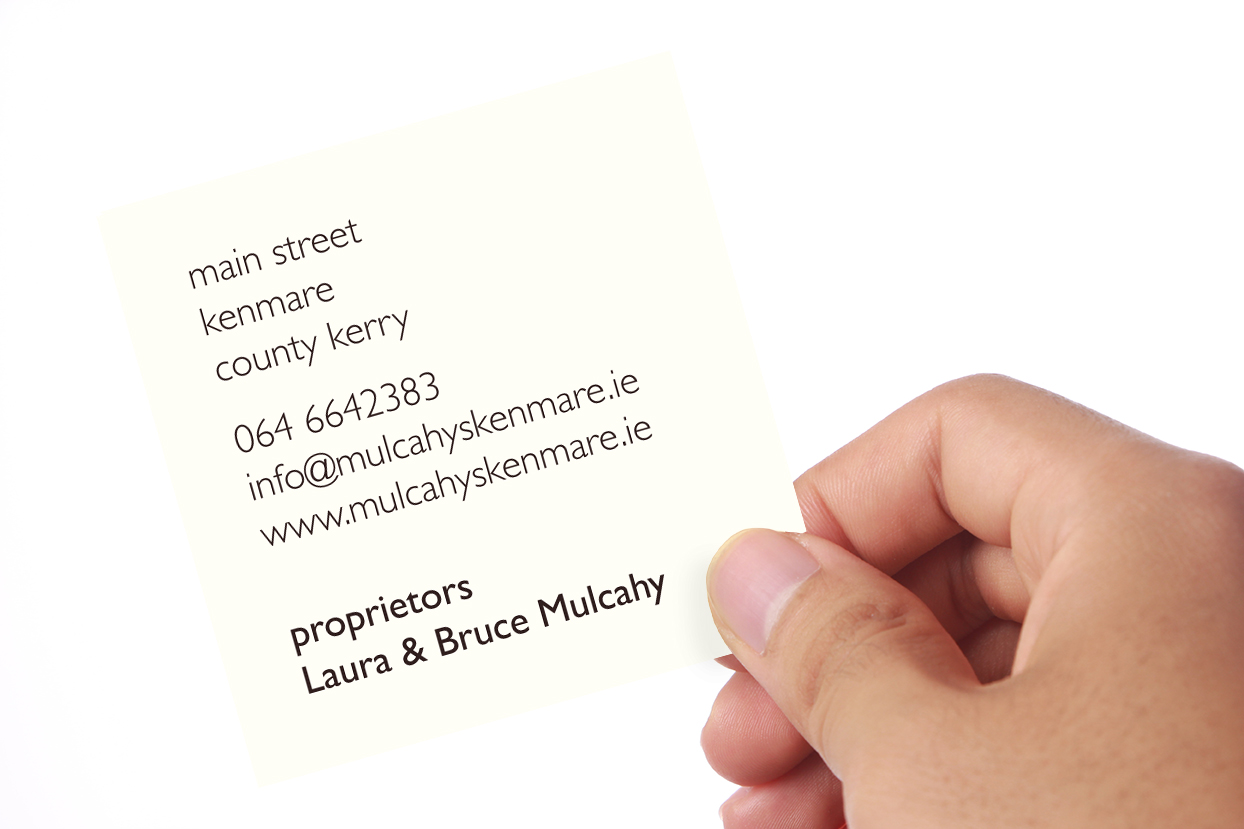 Mulcahy's Bar & Restaurant Business Card