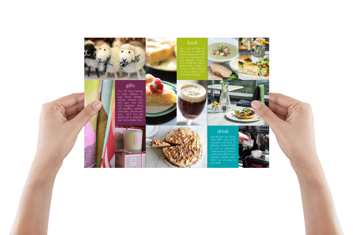 Cafe and shop brochure