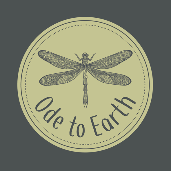 ode to earth dragonfly logo