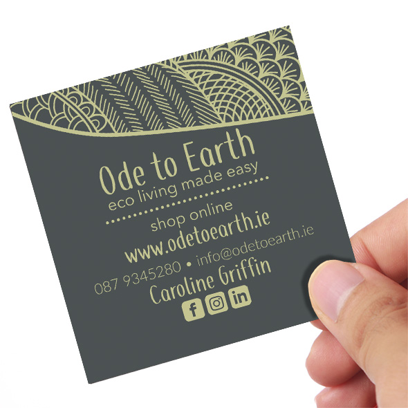 Ode to Earth Business Card Back